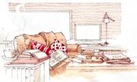 Il salotto  secondo l'artista Tisselli