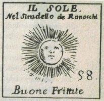 Una delle osterie del gioco del Mitelli. (tratto da Il quadrilatero Cuore Antico di Bologna, a cura di Costa Editore)