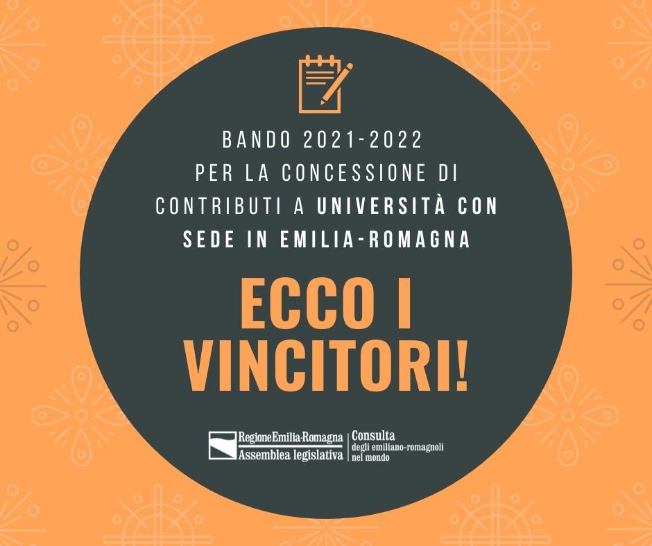 Bando 2021-2022 per la concessione di contributi a Università con sede in Emilia-Romagna: ecco i vincitori!
