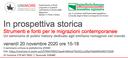 Un seminario a conclusione di un progetto sostenuto dalla Consulta degli emiliano-romagnoli nel mondo, promosso dal Laboratorio di Storia delle Migrazioni – Dipartimento di Studi Linguistici e Culturali dell'Università degli Studi di Modena e Reggio Emilia in collaborazione con l'Università degli Studi di Parma