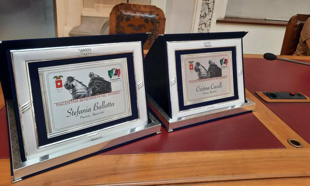 Piacentine benemerite nel mondo: Stefania Ballotta e Cristina Cavalli