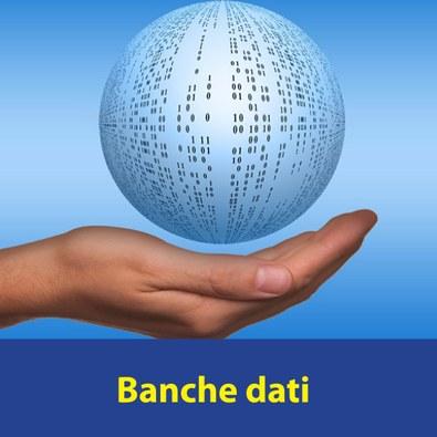 Banche dati con scritta