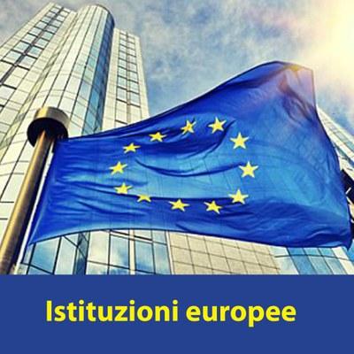 Istituzioni europee con scritta