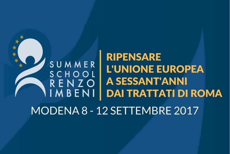 Summer School Renzo Imbeni 2017, si apre la selezione