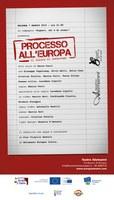 """""""Processo all'Europa"""", al teatro Alemanni di Bologna sarà il pubblico a decidere il verdetto sull'UE."""