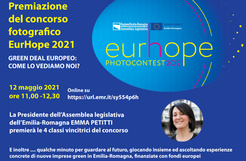 Locandina premiazione Eurhope 2021