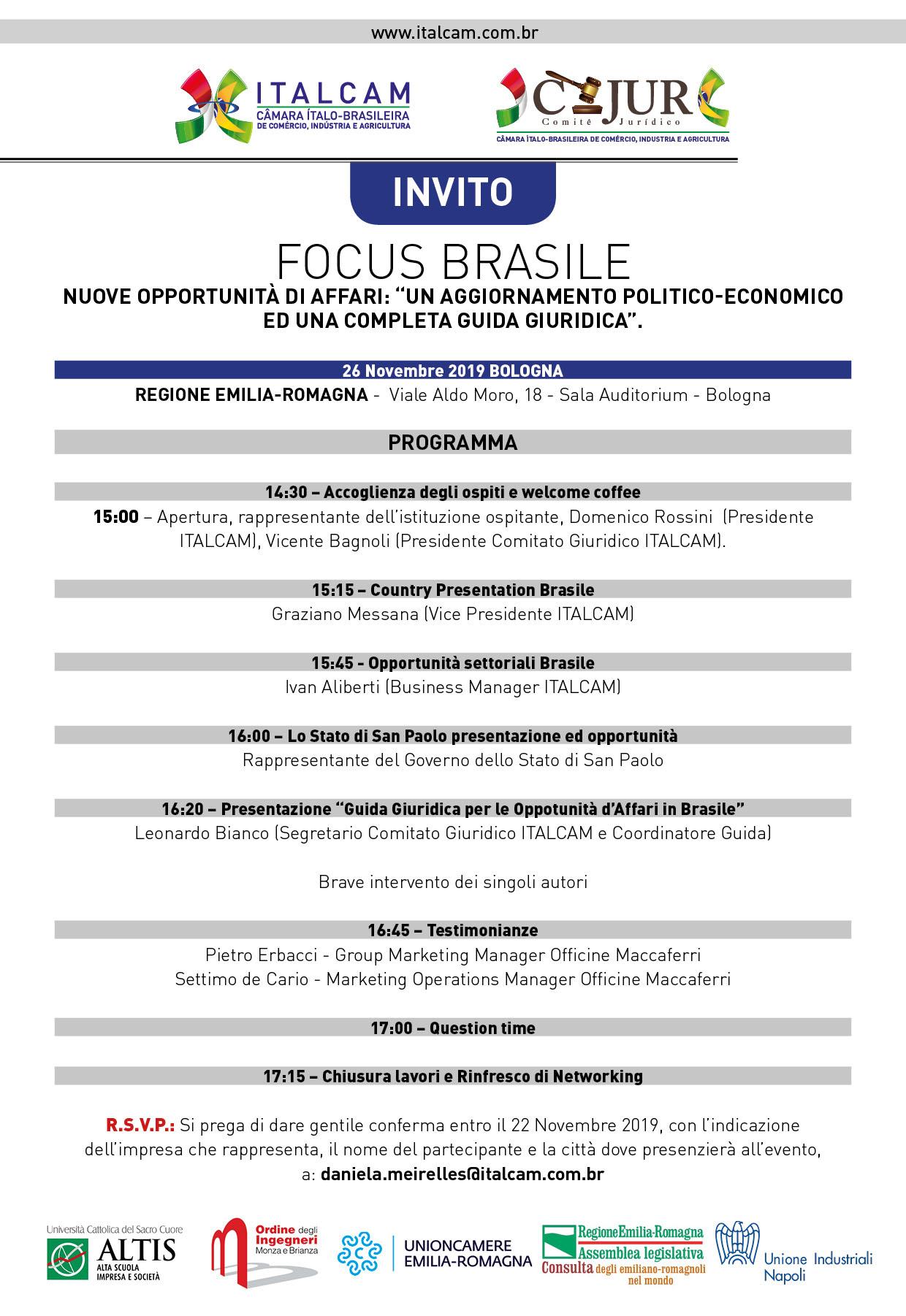evento 26 novembre 2019 brasile