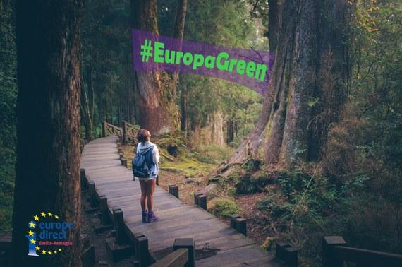 img copertina di europagreen ragazza nel bosco