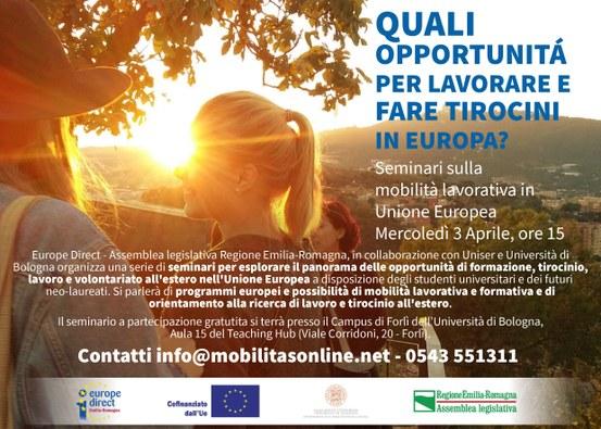 Seminario sulla mobilità lavorativa in Unione Europea, Forlì 03-04-2019