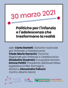 L'Assemblea legislativa della Regione Emilia-Romagna, grazie al Centro Alberto Manzi e alla Garante per l'infanzia e l'adolescenza, promuove un ciclo di 11 incontri dedicati a tutti coloro che lavorano a contatto con bambine e bambini, ragazze e ragazzi o che comunque pensano, progettano e realizzano attività dedicate all'infanzia e all'adolescenza