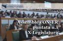 Assemblea ON-ER, al via la X Legislatura: il nuovo Ufficio di Presidenza nella prima puntata (1^ puntata X Legislatura)