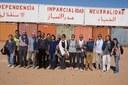 La prima sfida è quella dell'acqua, la seconda dell'alimentazione, la terza della sanità. L'incontro della delegazione con la Mezza Luna Rossa e il Ministro della Salute saharawi.